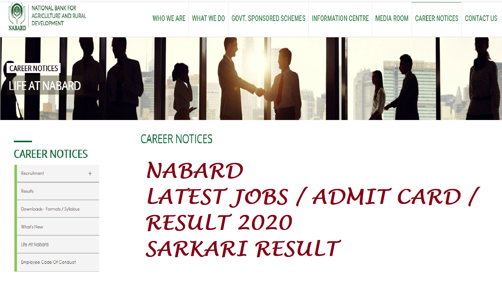 Nabard Office Attendant Admit Card 2020 for 73 Post