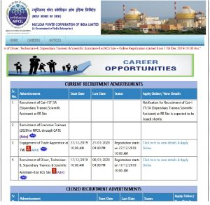 NPCIL Nuclear Power Corporation of India LTD