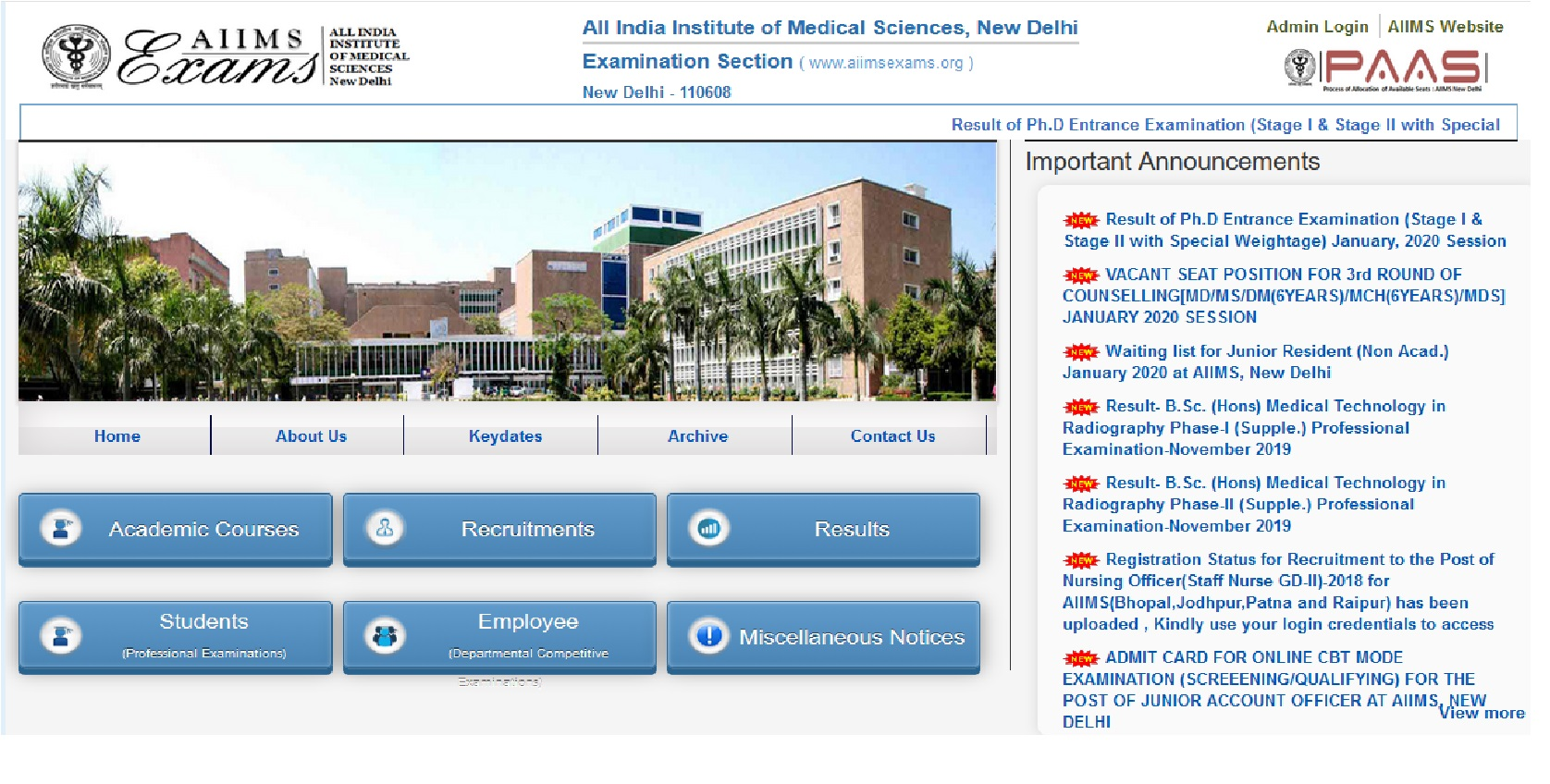 AIIMS Raipur Sr Resident Various Post Online Form 2020 For 142 Post