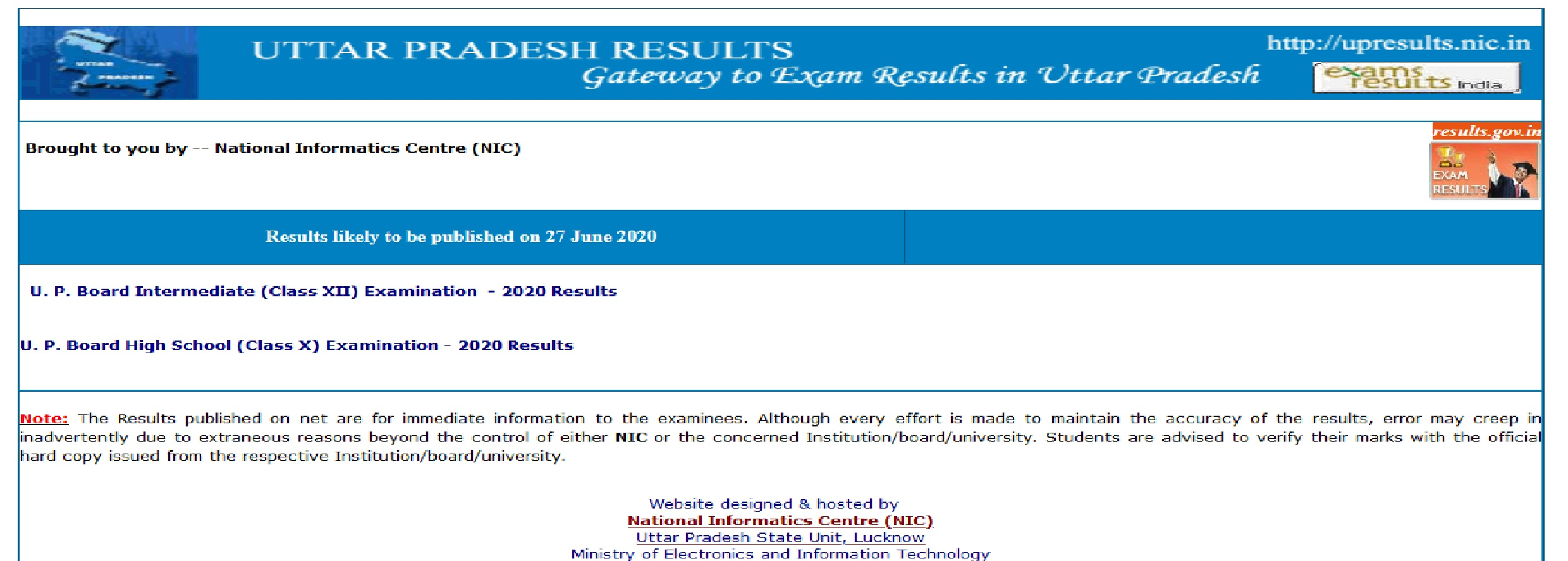 UP Board Class 12th Intermedaite Scrutiny Result 2020 | UPSMP Result