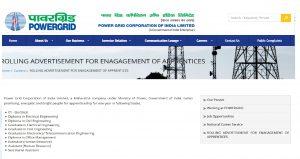 PGCIL Apprentice